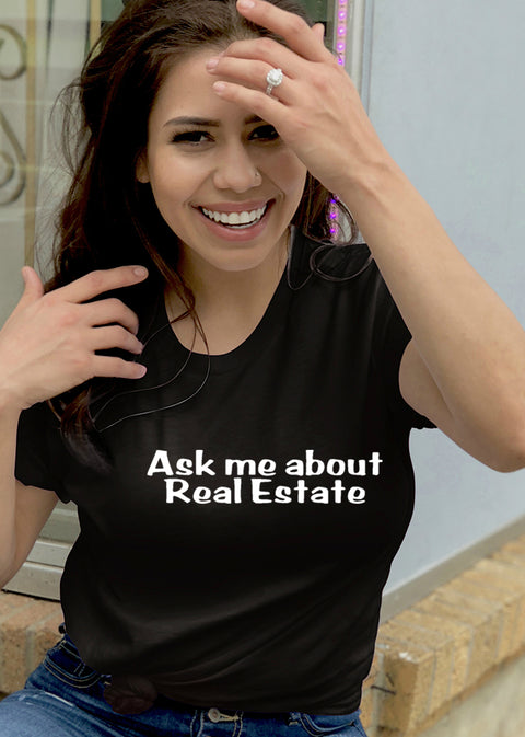 Ask Me About Real Estate-SS-Tees
