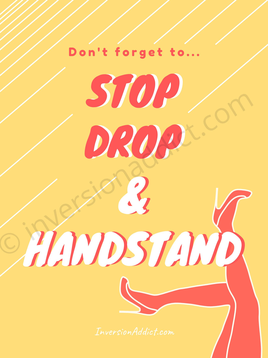 Stop Drop & Handstand! - InversionAddict Coaching Handstand Tutorials