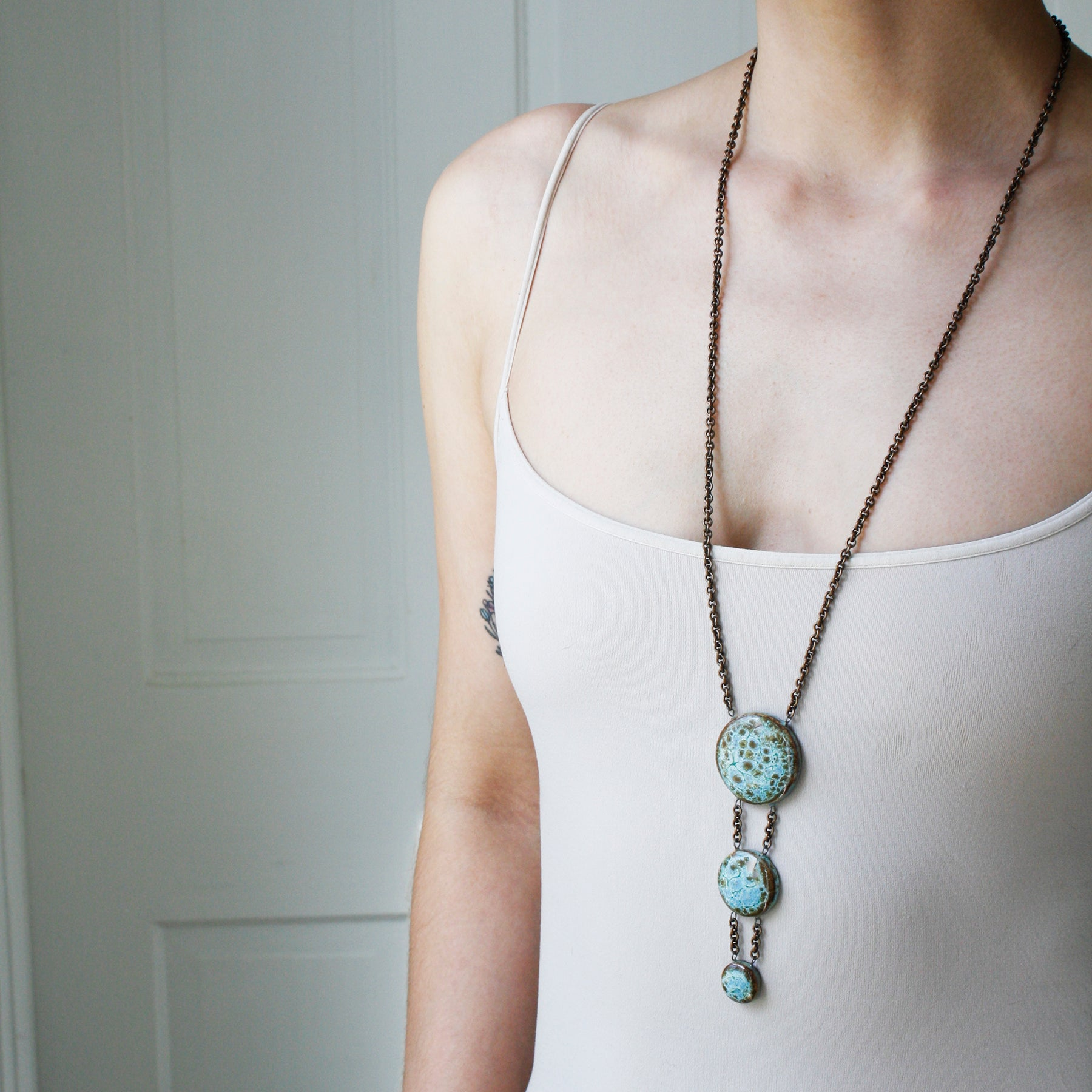 3 Piece Circle Necklace - Long