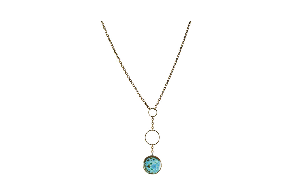 Drop Circle Necklace - Short