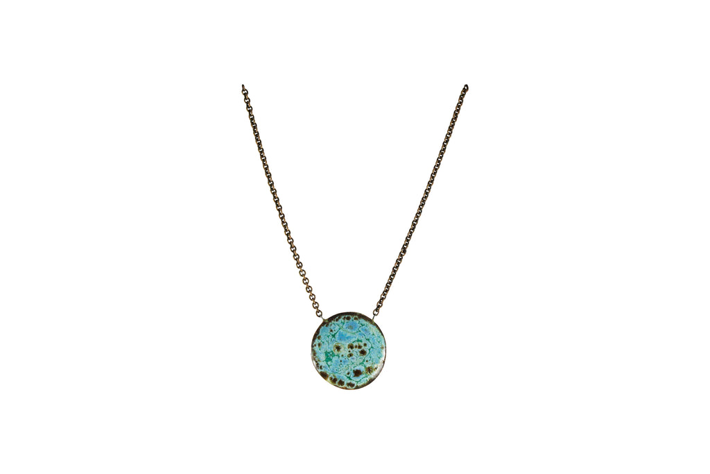 Circle Pendant Necklace - Short