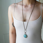 Small Circle Necklace - Long Custom Jewelry Asheville NC