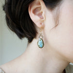 Small Gem Earrings Custom Jewelry Asheville NC