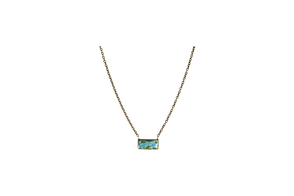 Small Rectangle Necklace Custom Jewelry Asheville NC