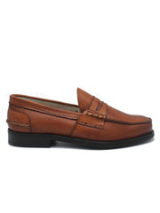 PENNY LOAFER CHESTNUT LEATHER - SAXONE OF SCOTLAND - SCARPE UOMO - Ghiglino1893
