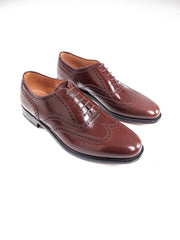 OXFORD STRINGATA CODA DI RONDINE MARRONE - LOAKE SHOEMAKERS - SCARPE - Ghiglino1893