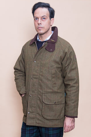 BRAMPTON TWEED JACKET - OXFORD BLUE - GIACCONE - Ghiglino1893