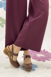 COMFY CROPPED PANTS BORDEAUX - Ghiglino1893