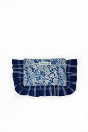 POCHETTE LILLA LIBERTY AND TARTAN FABRIC - Ghiglino1893