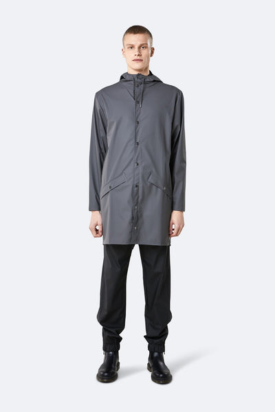 LONG JACKET CHARCOAL - RAINS - GIACCA - Ghiglino1893