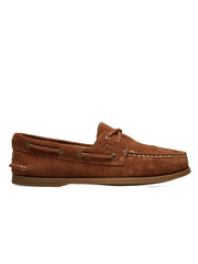 SPERRY AUTHENTIC ORIGINAL 2-EYE CLASSIC SUEDE DARK TAN - Ghiglino1893