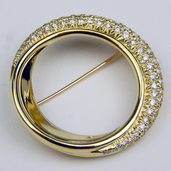 ALB 18k gold 1.5 Ctw diamond brooch #10480