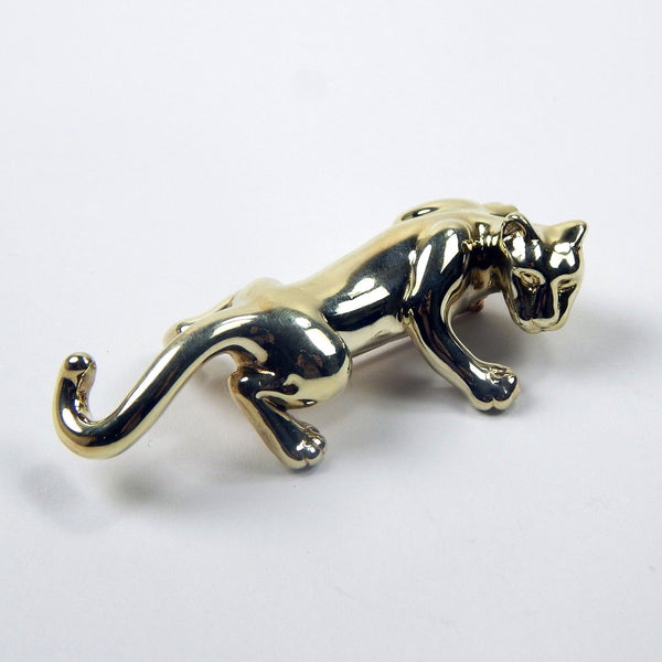 14k gold panther brooch #10101