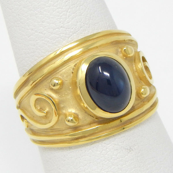 14k cabochon sapphire ring #10494