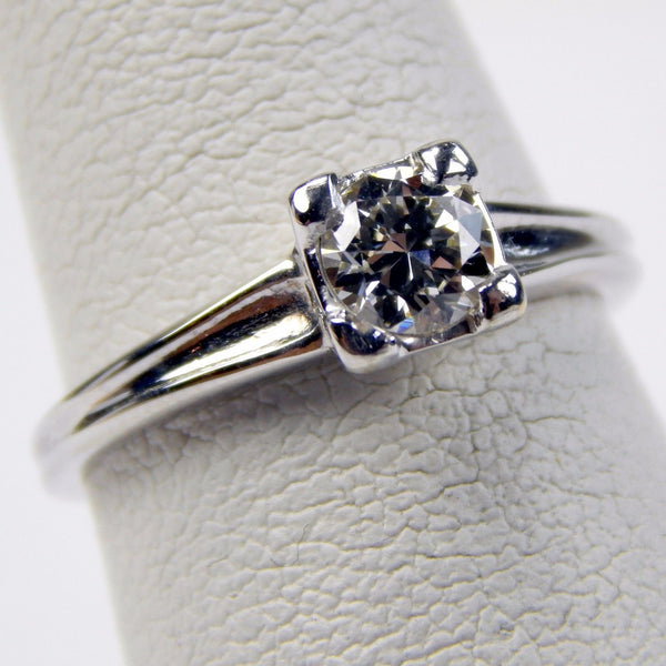 NB 14k white gold .40 Ct diamond solitaire ring #10132