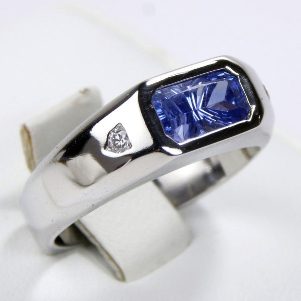 platinum tanzanite diamond ring #10306