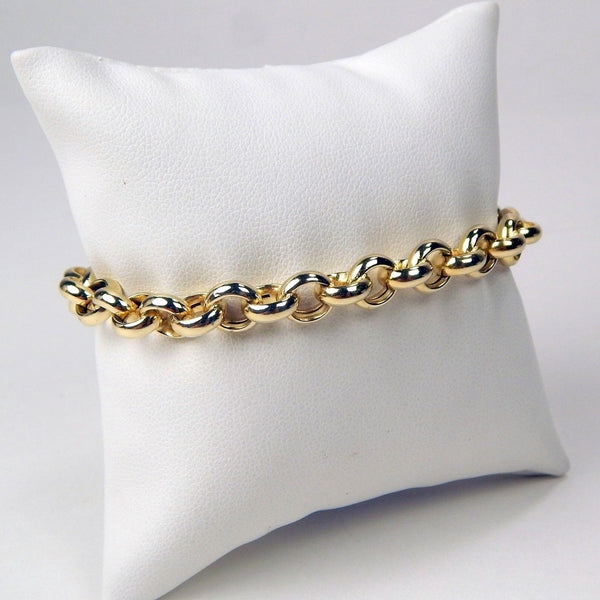 14k yellow gold link bracelet #10232