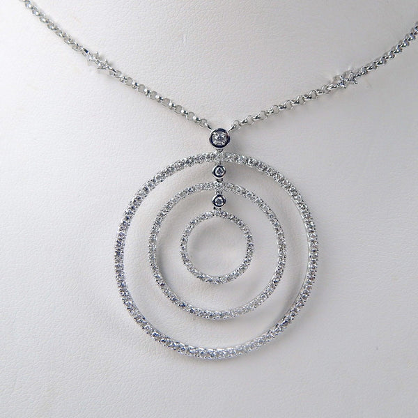 14k white gold diamond necklace #10424