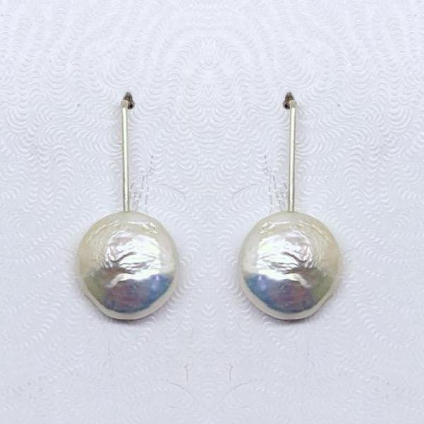 handcrafted sterling silver pearl earrings  #321