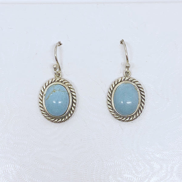 sterling silver turquoise earrings  #485