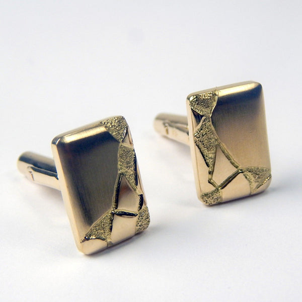 vintage 18k gold cufflinks set #10456