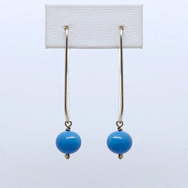 handcrafted sterling silver turquoise earrings #260
