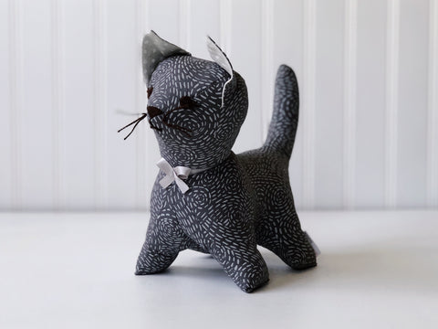 Grey cat stuffed animal