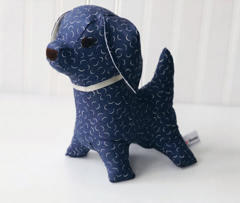 Denim dog stuffed animal