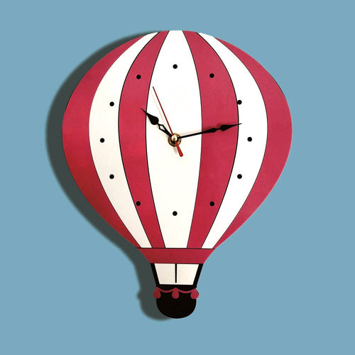 M.Sparkling 2018 New Cartoon Hot Air Balloon Wall Clock Mute Clocks Colorful Acrylic Wall Watch Unique Gift For Children