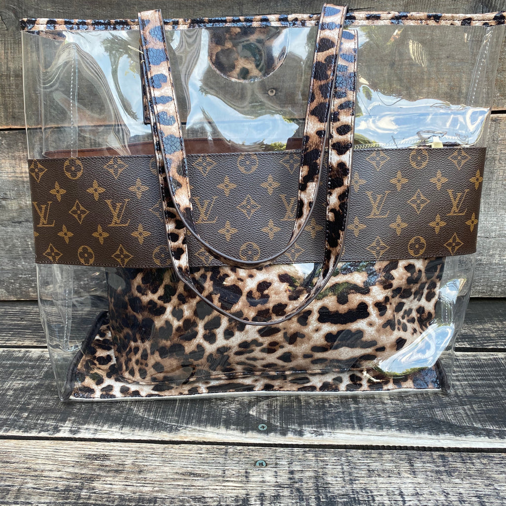 LV Leopard Beach bag
