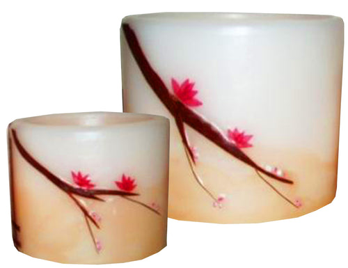 Cherry Hurricane Candles