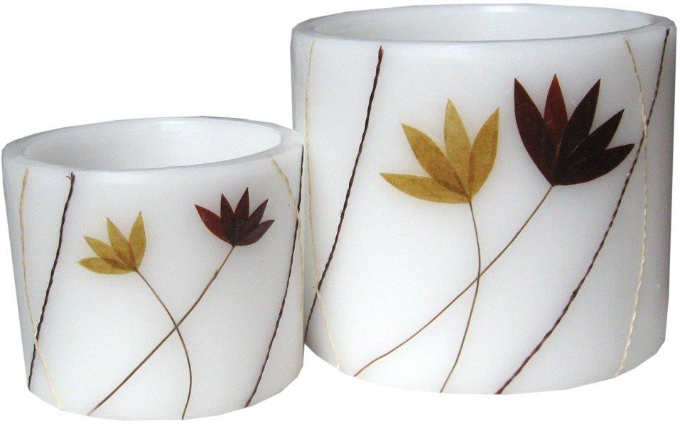 Leaf Hurricane Candles