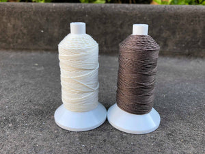 So Mac Plaiting Thread 18/3 25g Reel (Small) Brown & White - NextGen Equine