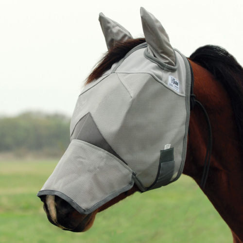 REDUCED! Cashel Crusader Fly Mask w/ Long Nose & Ears Weanling/Small Pony Size