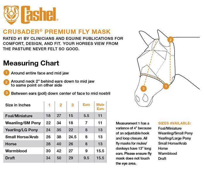 Cashel Crusader Fly Mask w/ Long Nose and Ears - NextGen Equine