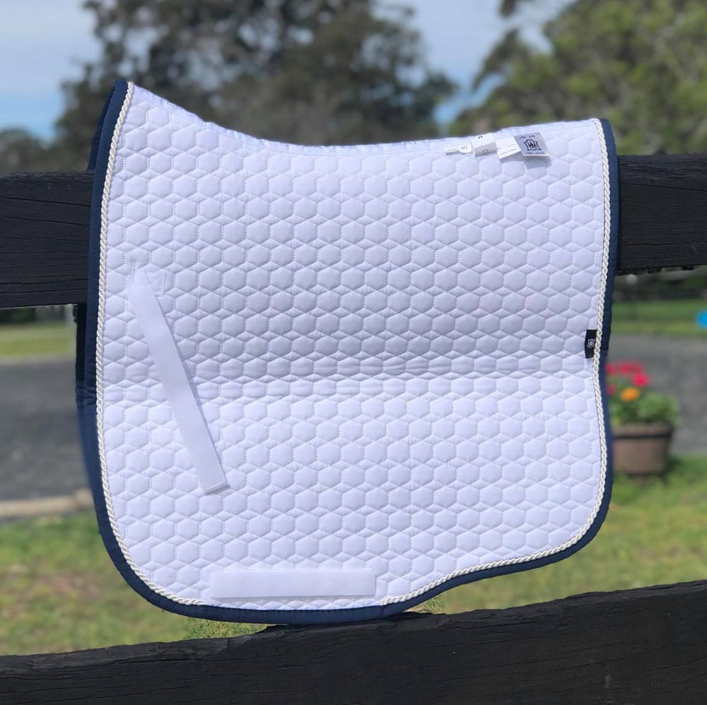 E.A. Mattes Dressage Square Saddle Pad / White Large - NextGen Equine
