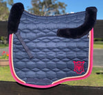 E.A.Mattes 'The Danielle' Saddle Pad Quilt SHEEN with Top & Bottom Sheepskin / Large Eurofit