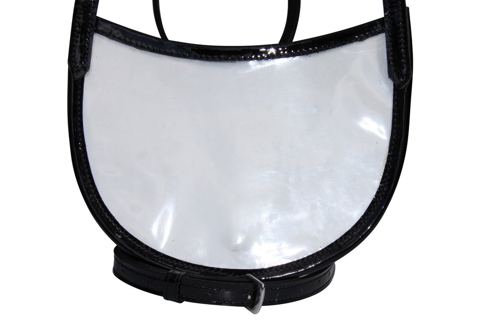 White Horse Equestrian Patent Leather Fine Stitched White Faced Number Holder - NextGen Equine