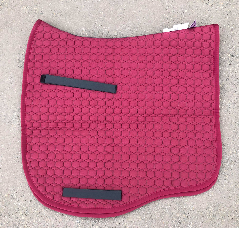 NextGen Basics Saddle Pad from E.A.Mattes Dressage Eurofit L Burgundy/Burgundy