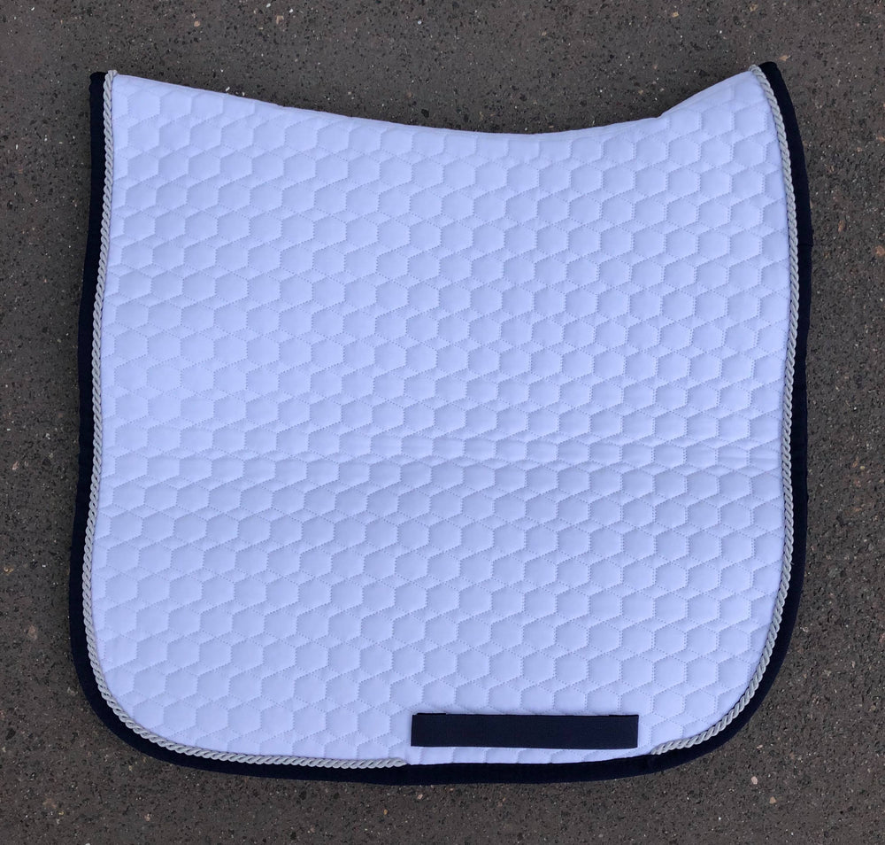 E.A. Mattes Dressage Square Saddle Pad / White M & L
