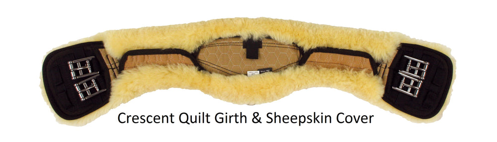 CUSTOM ORDER - E.A. Mattes Quilt Short Girth & Sheepskin Cover from $229.00 - NextGen Equine