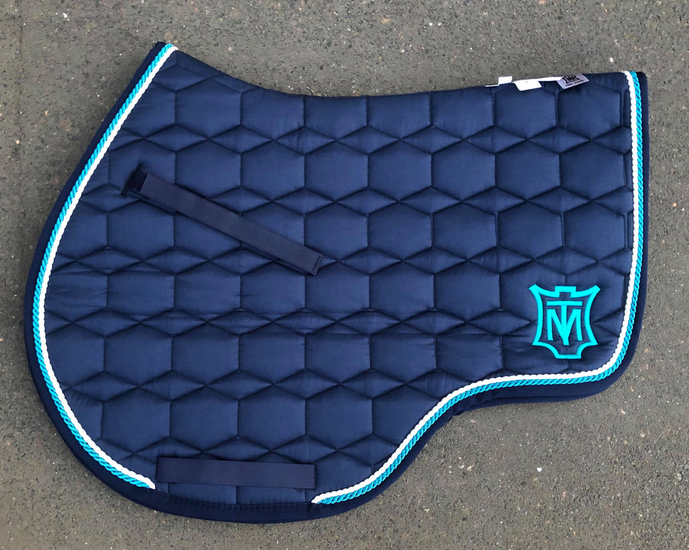 E.A. Mattes Jumping Eurofit Saddle Pad Large / Quilt Sheen Navy