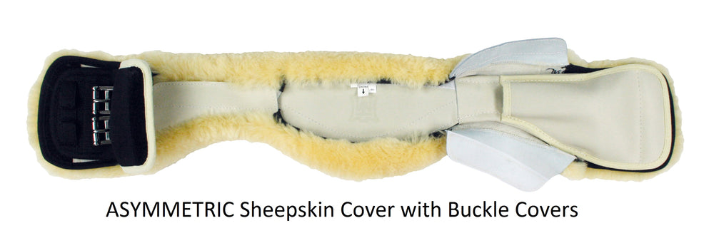 CUSTOM ORDER - E.A. Mattes Slimline Leather Short Girth & Sheepskin Cover from $239.00 - NextGen Equine