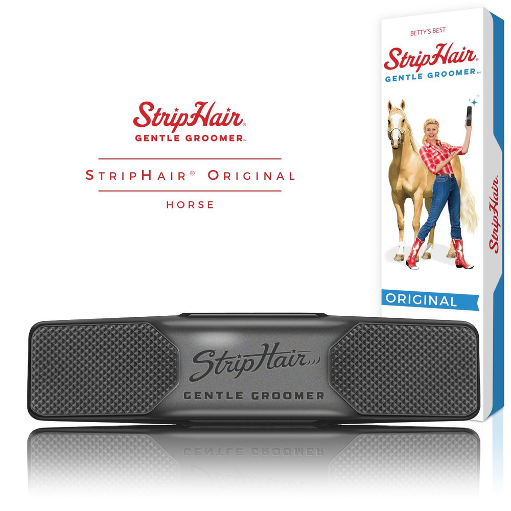 StripHair 'ORIGINAL' Gentle Groomer - Horse & Dog (Black)