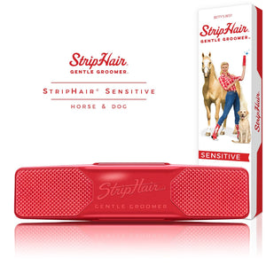 StripHair Sensitive Gentle Groomer - Horse & Dog (Red) - NextGen Equine