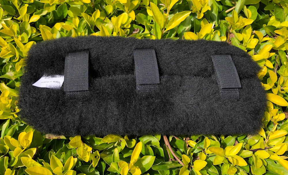 E.A.Mattes Sheepskin Poll Relief Bridle Pad - Black, Brown or Natural Sheepskin - NextGen Equine