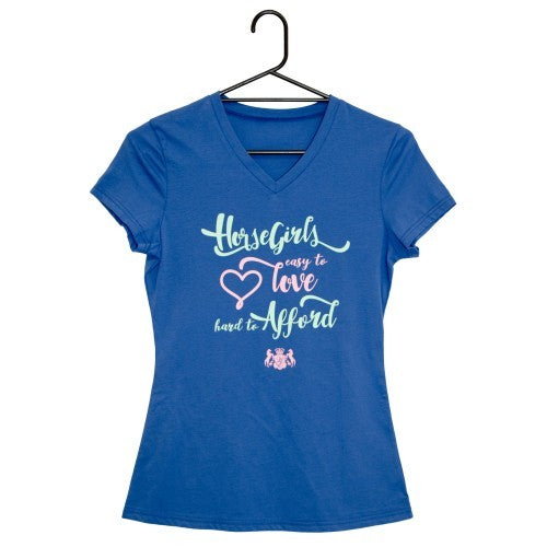 Huntington Vee Neck Ladies T-Shirt - Hard to Afford