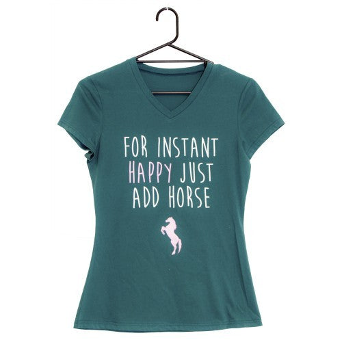 Huntington Vee Neck Ladies T-Shirt - Instant Happy