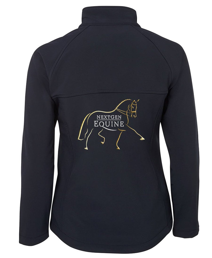 CUSTOM ORDER - NextGen Ladies Navy Soft Shell Jacket - NextGen Equine