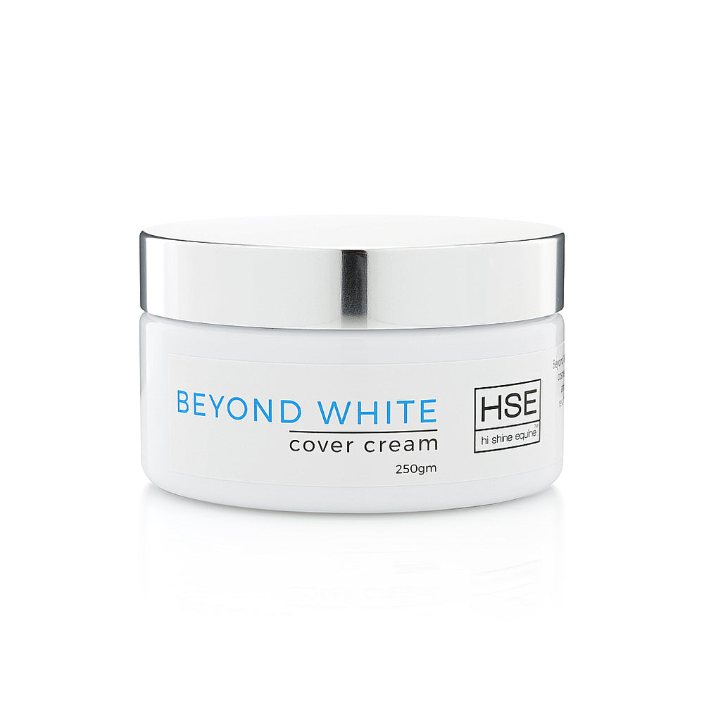 Hi Shine Equine Beyond White Cover Cream 250g & Applicator